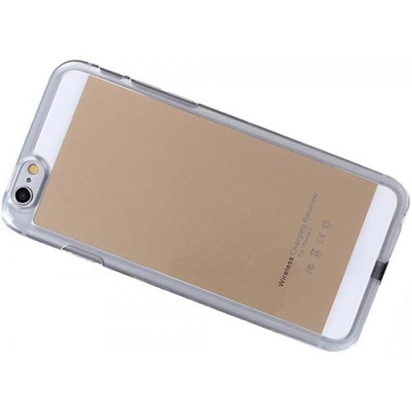 Чехол с функцией беспроводного заряда QI для Apple iPhone 6 адаптер (Силикон)