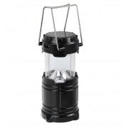 LED фонарь походный на солнечной батарее (черный)