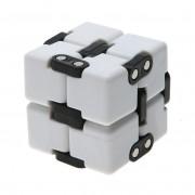Игрушка-антистресс головоломка Infinity Cube куб трансформер пластик (Белый)