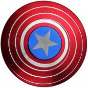 Игрушка-антистресс Spinner Спиннер крутилка металлический плоский щит Капитана Америка (Синий)