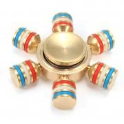 Игрушка-антистресс Spinner Спиннер крутилка металлический шестиконечный радуга