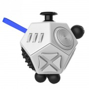 Антистресс кубик Fidget Cube Pro 2.0 12 граней питчер (Белый)