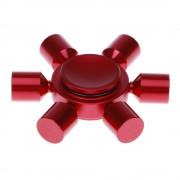 Игрушка-антистресс Spinner Спиннер крутилка металлический шестиконечный (Красный)
