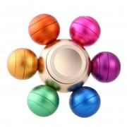 Игрушка-антистресс Spinner Спиннер крутилка металлический шестиконечный Шарики цветной