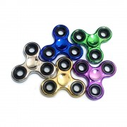 Игрушка-антистресс Professional Fidget Spinner Спиннер крутилка глянцевый под металл треугольный (Разные цвета)