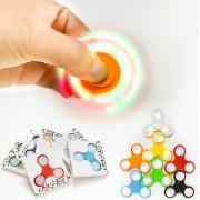 Игрушка-антистресс Spinner Спиннер крутилка с LED подсветкой светящийся плоская форма (Разные цвета)