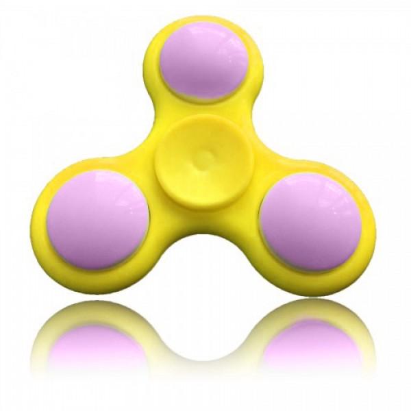 Игрушка-антистресс Spinner Спиннер крутилка с LED подсветкой светящийся выпуклая форма (Желтый)
