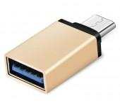 Переходник OTG Type C, USB мама, Type C папа