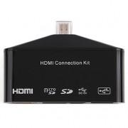 Переходник папа Micro USB, мама HDMI, OTG, Cardreader