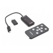 Кабель переходник папа Micro USB, мама HDMI, в комплекте пульт и дополнительные переходники 5 pin 11 pin