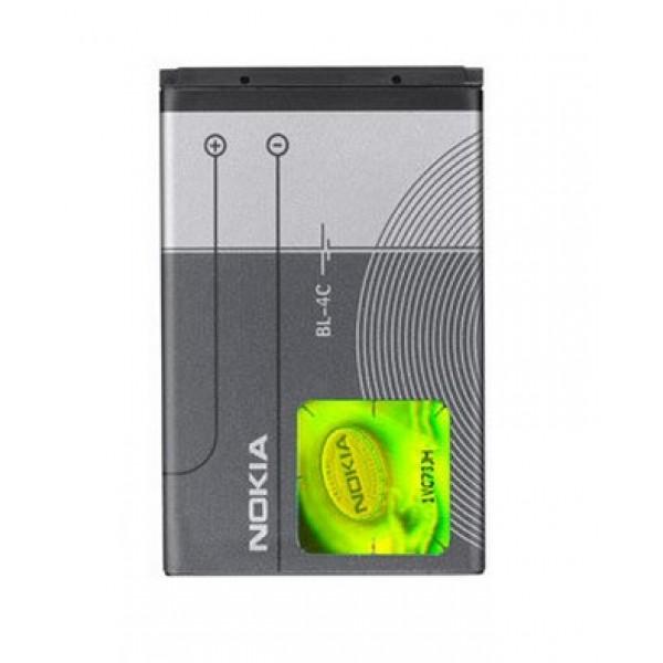 Nokia BL-4C, 820 mAh 3.7V подходит для Nokia 1661, 2650, 2652, 3500C, 5100, 6100, 6101, 6102, 6103, 6125, 6131, 6136, 6170, 6260, 6300,