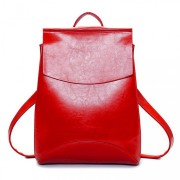 Рюкзак French натуральная кожа (Красный)