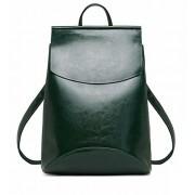 Рюкзак French натуральная кожа (Темно-зелёный)