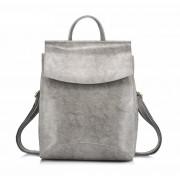 Рюкзак French натуральная кожа (Серый)