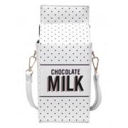 Стильная сумка клатч Пакет молока (Белый)