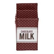 Стильная сумка клатч Пакет молока (Красный)