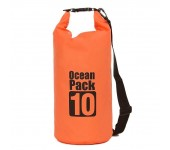Сумка на пляж непромокаемая, водонепроницаемая объем 10 литров (Оранжевая)