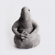Мягкая плюшевая игрушка Ждун серого цвета 40 см