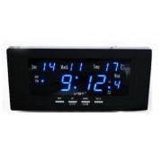 Сетевые электронные часы-будильник VST 802W