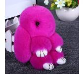 Брелок Кролик из меха (Розовый)