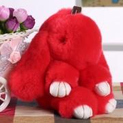 Брелок Кролик из меха (Красный)