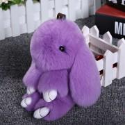 Брелок Кролик из меха (Фиолетовый)