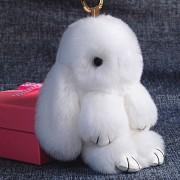 Брелок Кролик из меха (Белый)
