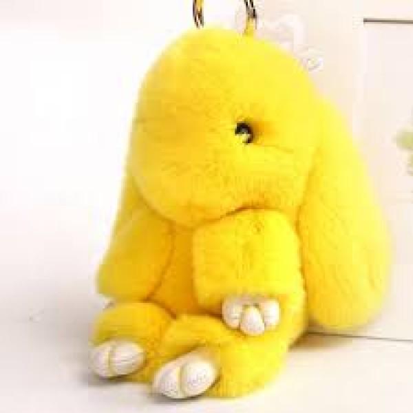 Брелок Кролик из меха (Жёлтый)