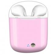 Беспроводные наушники i7s tws с портативным зарядным устройством (Розовый)
