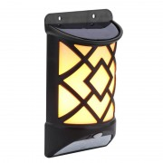 Светильник LED на солнечной батарее с датчиком света (Черный)