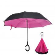 Инновационный обратный зонт (Розовый)