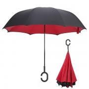 Инновационный обратный зонт (Красный)