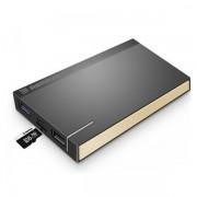 Внешний аккумулятор Remax Re-Power RPP-58 10000mAh с функцией кард ридера Micro SD (Золотой)