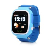 Умные детские часы с телефоном и GPS трекером Smart Watch Q90 (Синие)