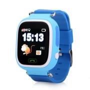 Умные детские часы с телефоном и GPS трекером Smart Baby Watch Q90 (Синие)