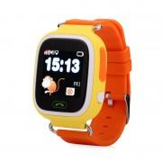 Умные детские часы с телефоном и GPS трекером Smart Baby Watch Q90 (Оранжевые)