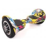 Гироскутер Smart Balance Wheel Pro 10 дюймов Offroad с Bluetooth, с приложением, сумка (Желтый мультики)
