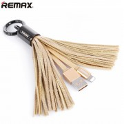 Кабель Remax Tassels Ring lightning RC-053i (Золотистый)