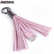Кабель Remax Tassels Ring lightning RC-053i (Розовый)