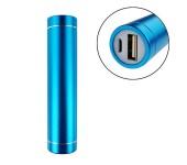 Универсальный внешний аккумулятор Power Bank Powerbank 2500 mah, 1 USB - вход, метал (Синий)