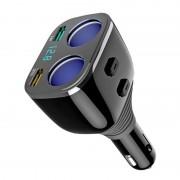 Авто-разветвитель прикуривателя Eplutus FC-222 (Черный)