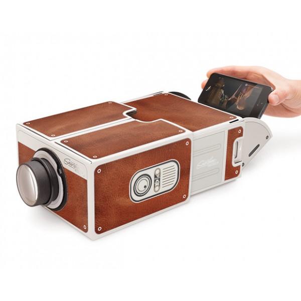 Компактный проектор Cardboard для смартфона