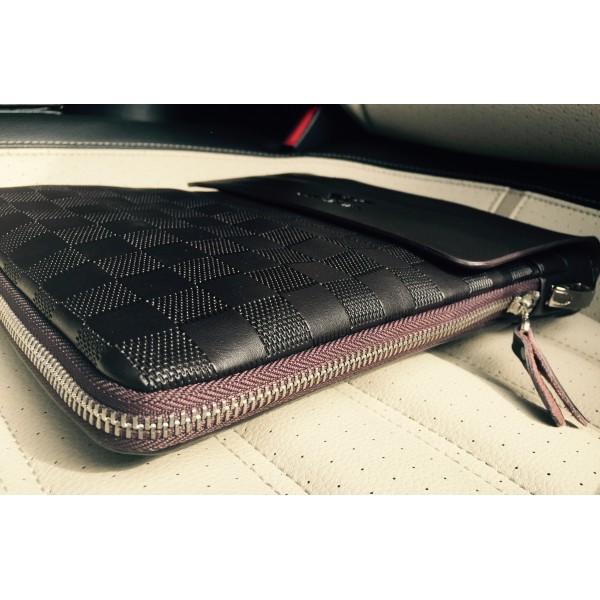 a548cf2a5881 Деловая мужская сумка планшет L для планшета, документов Brand (Коричневый,  шашка)
