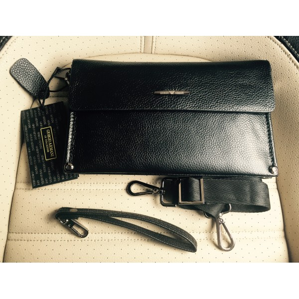 c95f399cf9b4 Стильный мужской клатч Brand A натуральная кожа метал (Черный)