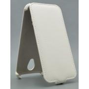 Чехол armor Флип-кейс для Micromax D320 (белый)