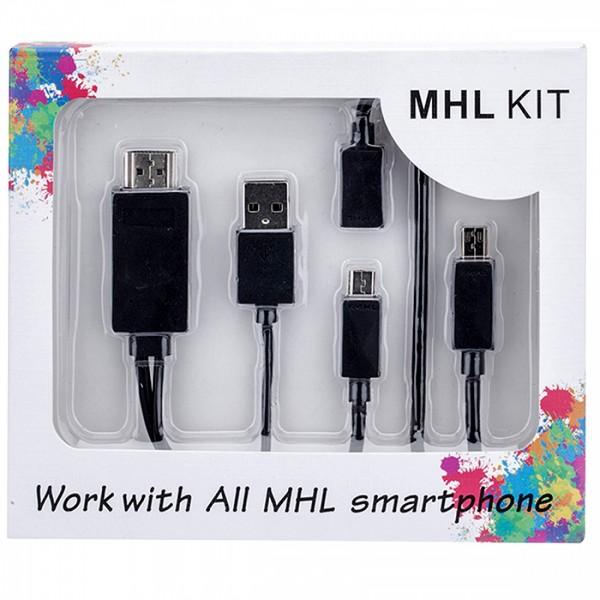 Кабель адаптер MHL - HDMI набор для подключения смартфона к монитору