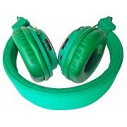 Наушники NIA 8809 с проводом, гарнитура 3 в 1 FM + Micro SD / TF-плеер + Aux-In (Зеленые)