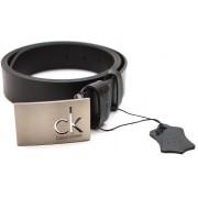 Ремень бренд CK натуральная кожа (черный)