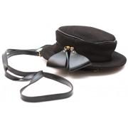 Рюкзак-клатч Шляпка Полоска (черный)