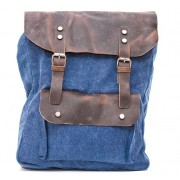 Рюкзак L&F 6876 натуральная кожа плотная ткань синий